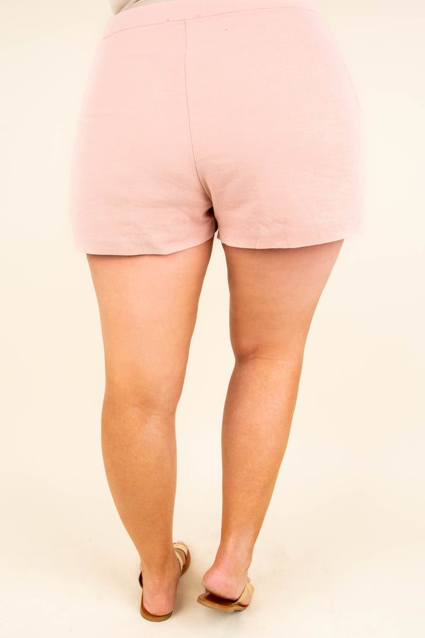 Can't Stay Away Shorts, Peach