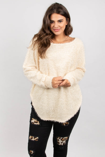 Snowed In Sweater, Cream