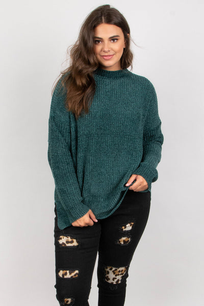 Flash Forward Sweater, Teal
