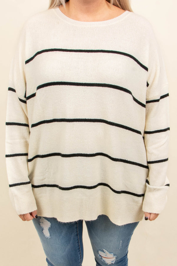 Slumber Party Sweater, Ivory-Black