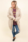 cardigan, natural, long sleeve, pocket, open, cozy, comfy