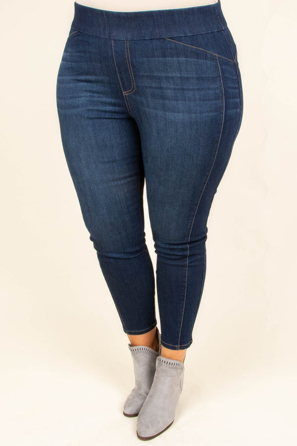 What The Heart Wants Jeggings, Dark Wash
