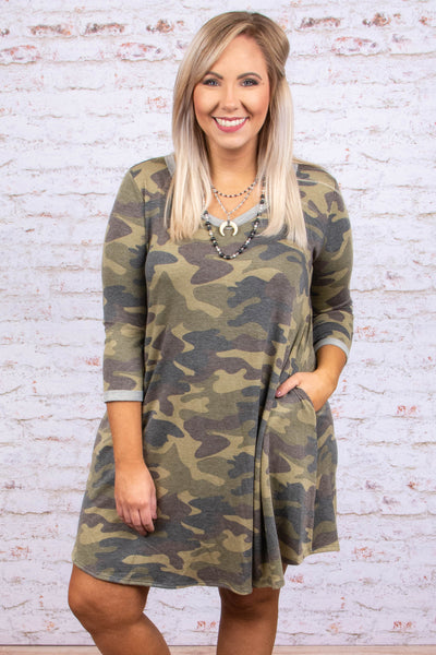 Perfect Timing Dress, Olive