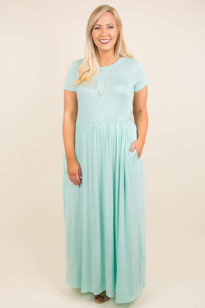 Passion For Fashion Maxi Dress, Light Mint