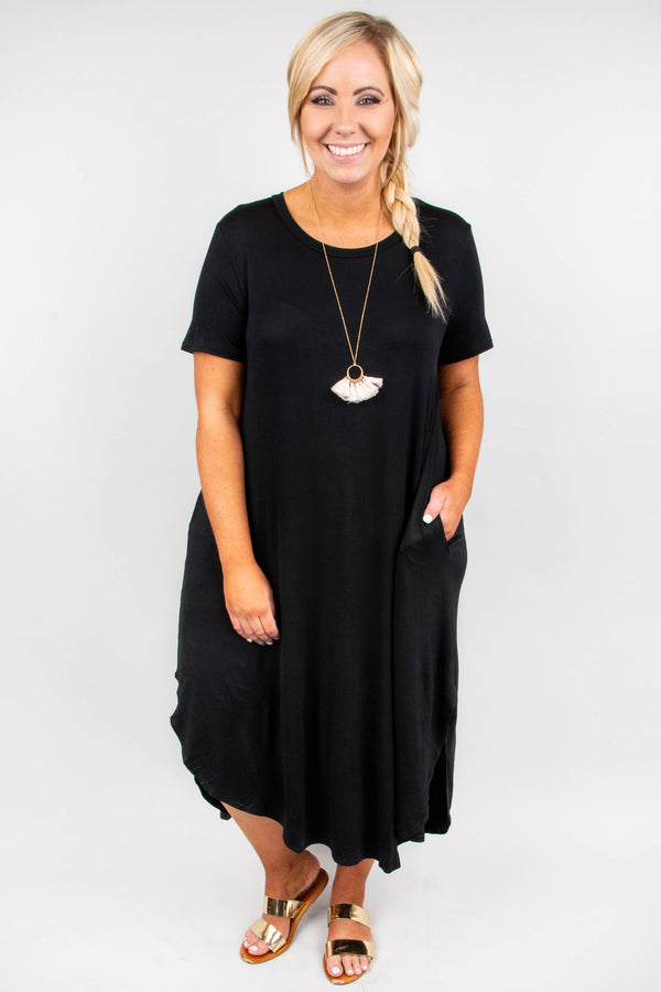 Shooting Stars Maxi Dress, Black