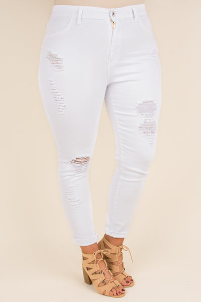 Greatest Hits Skinny Jeans, White