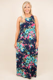 Playfully Posh Maxi Dress, Navy