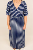 Party In Stripes Maxi Dress, Navy