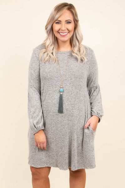 Take Another Look Dress, Heather Gray
