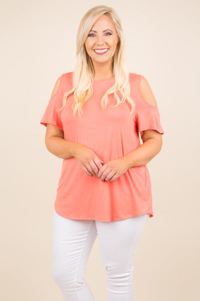 Sunset Drive Top, Coral