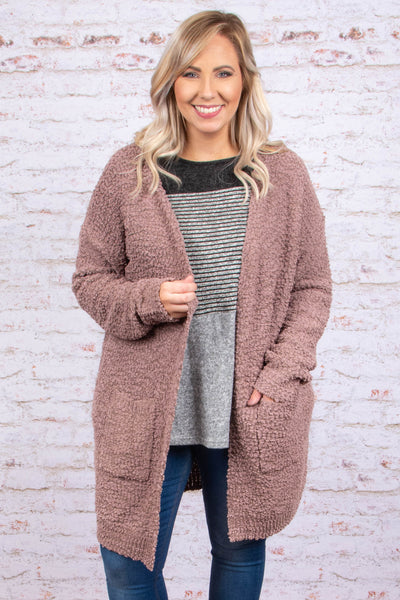 Snuggle Up Cardigan, Latte