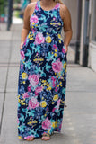 All The Charm Maxi Dress, Navy