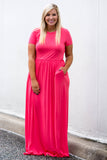 Passion For Fashion Maxi Dress, Coral