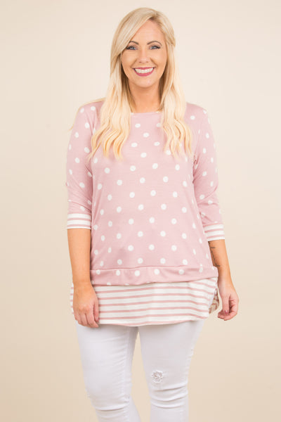 Darling In Dots Tunic, Pink