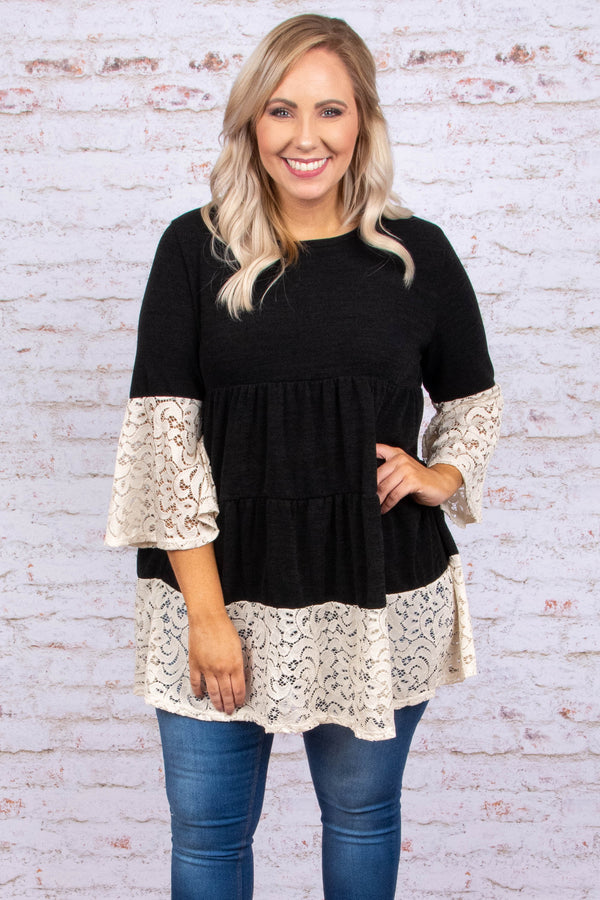 More Than Words Tunic, Black