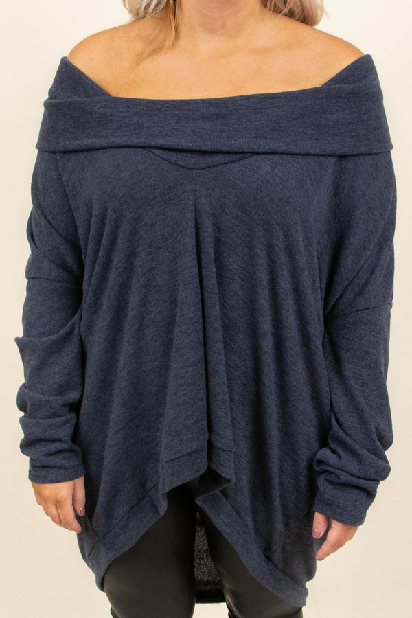 Need To Roam Tunic, Charcoal