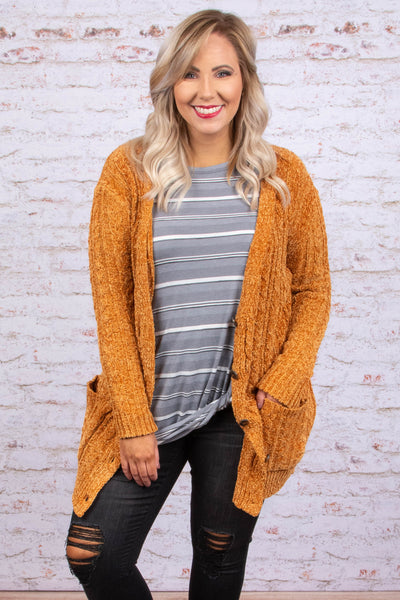 Taking Flight Cardigan, Mustard