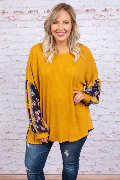Midnight Rambler Top, Mustard