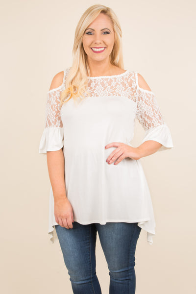 Lace This Way Blouse, Ivory