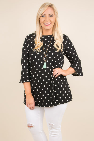 Center Stage Tunic, Black