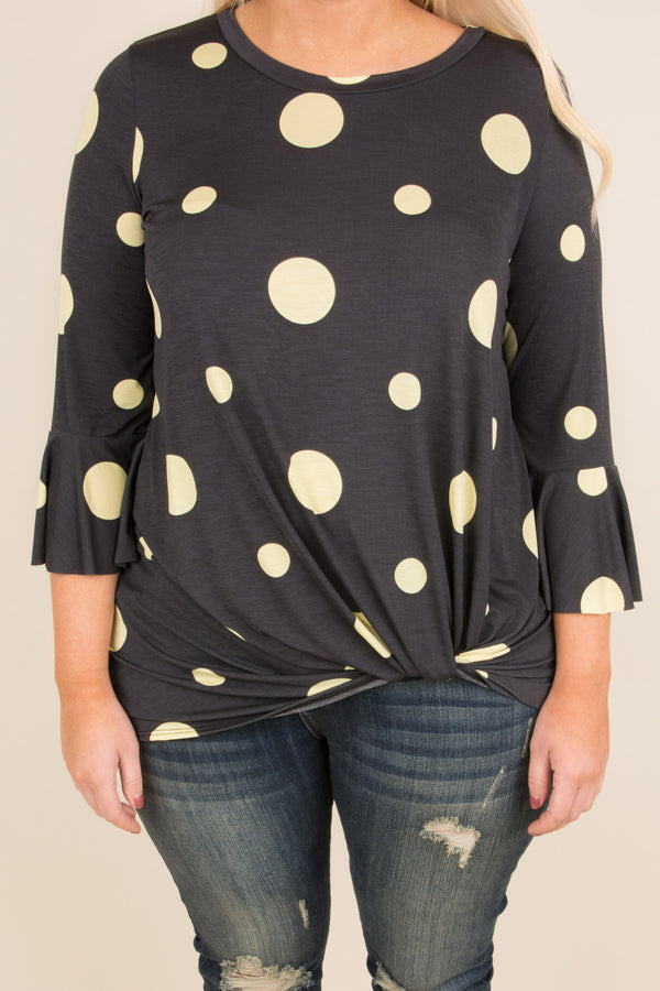 Dotted Dreams Tunic, Charcoal