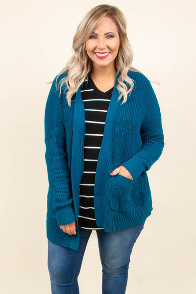 All Day Comfort Cardigan, Sea Green