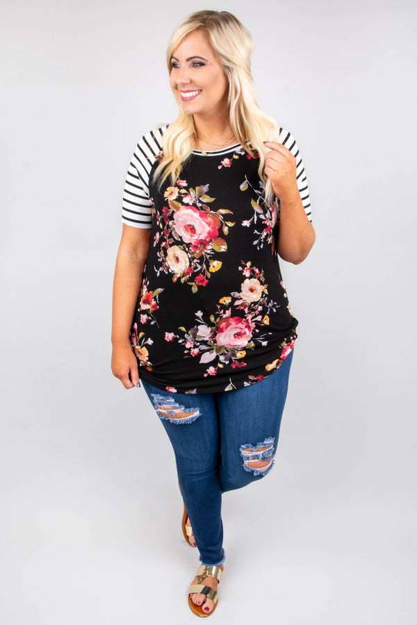 Little Something Sweet Top, Ivory-Black