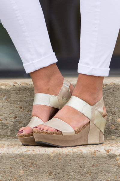 Sudden Crush Wedges, Gold