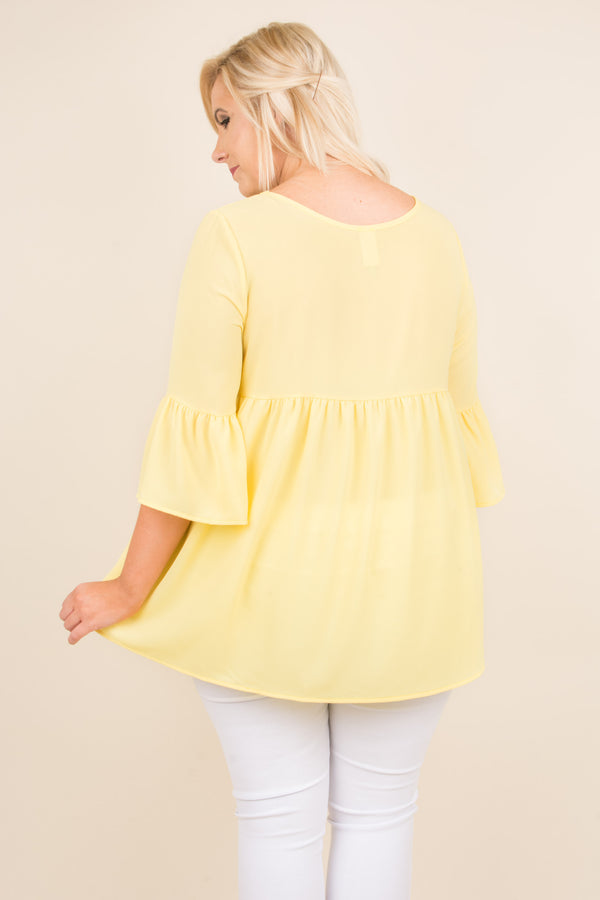 Inspire Me Top, Yellow