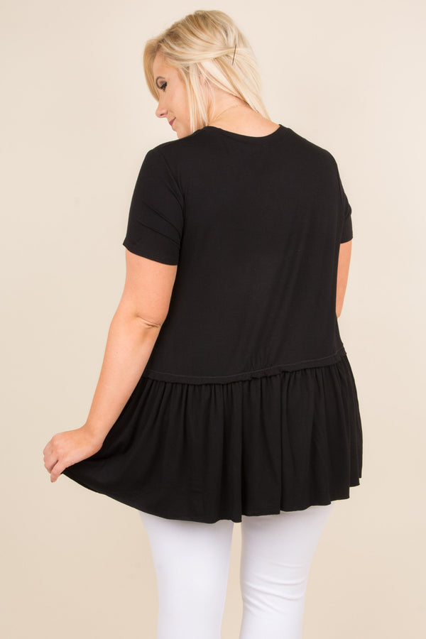 First Choice Tunic, Black