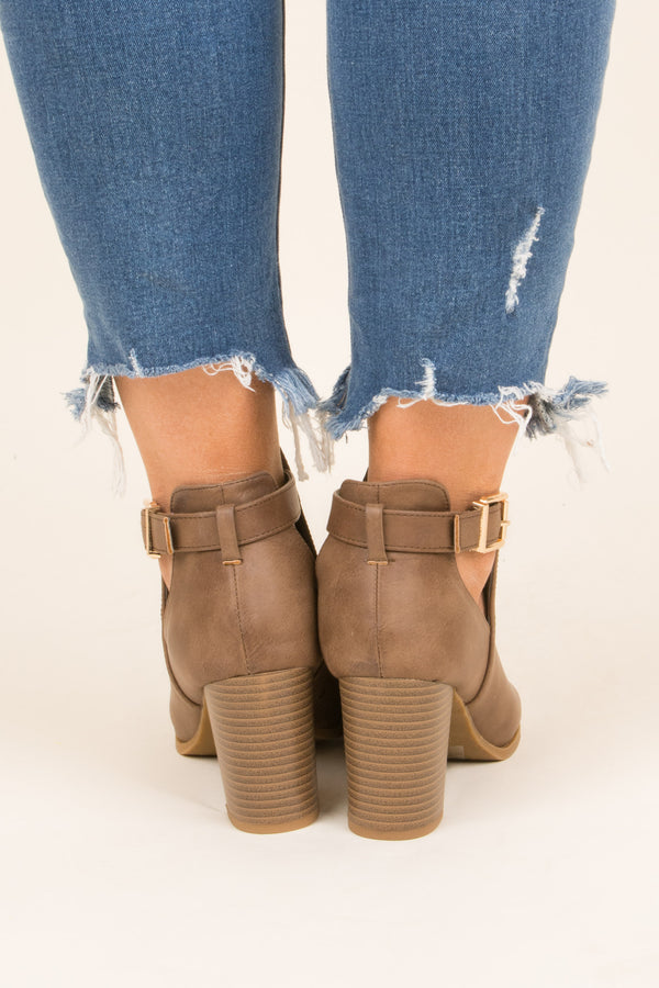 Knockout Booties, Taupe