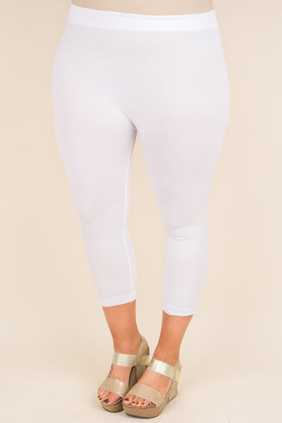 Luxe Leggings, Cropped White
