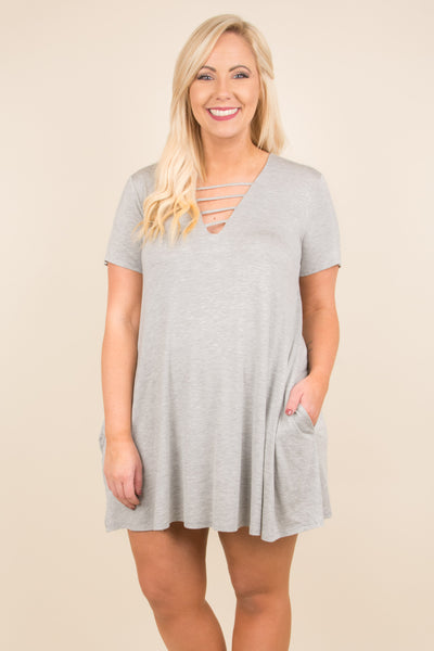 Weekend Chill Tunic, Heather Gray