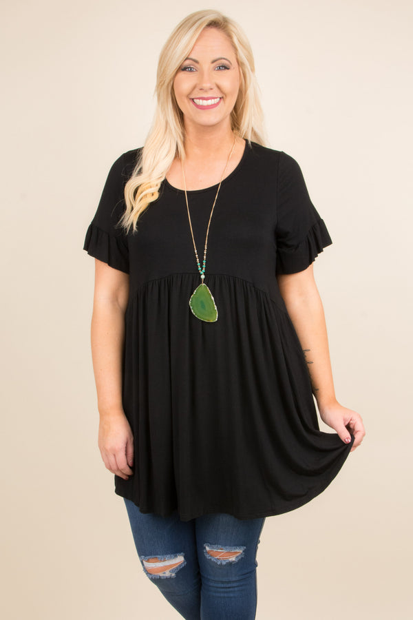 Tell The Truth Tunic, Black