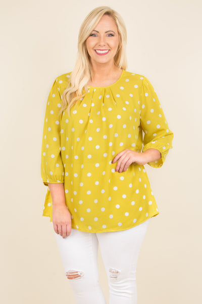 Lighten The Mood Blouse, Mustard