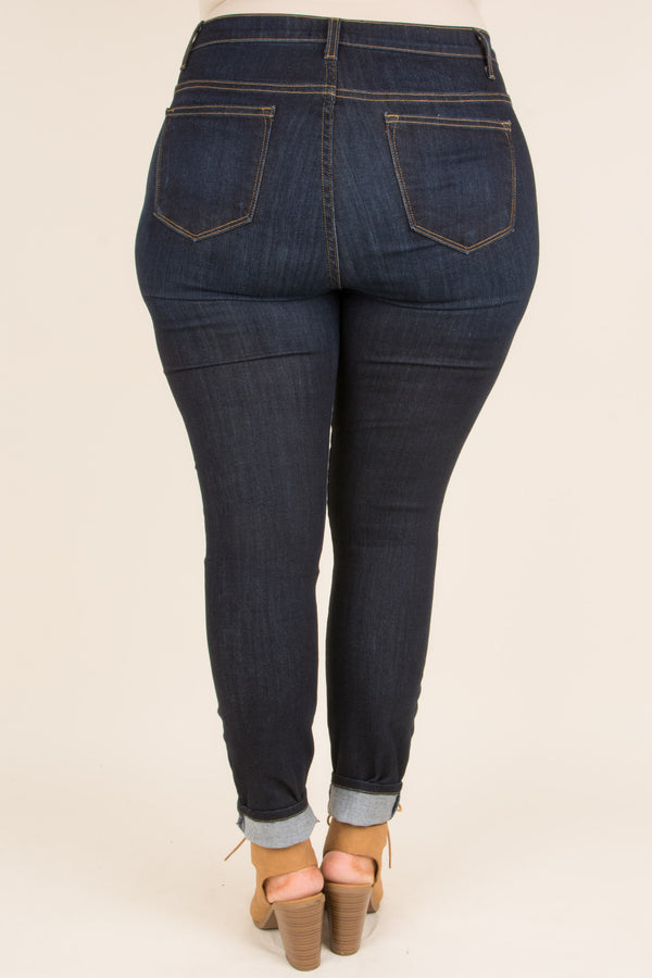 On The List Skinny Jeans, Dark Wash