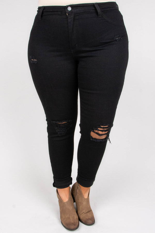 Heard About You Skinny Jeans, Black