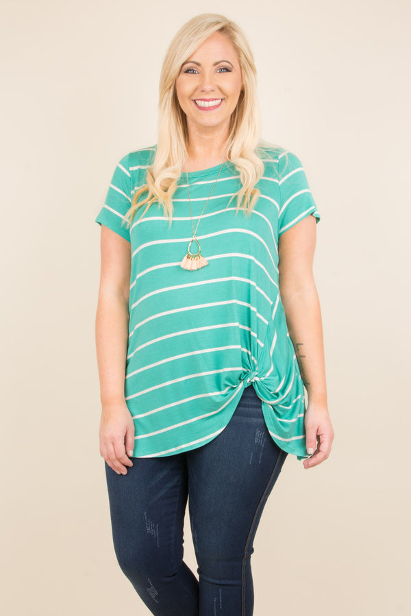 Stay Stripe There Tunic, Mint