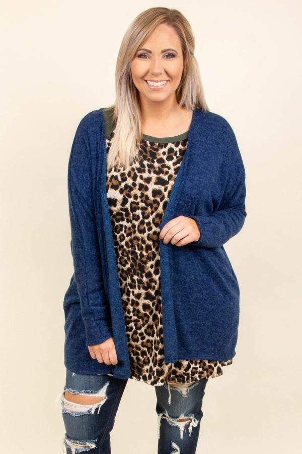 Grabbing Coffee Cardigan, Royal Blue