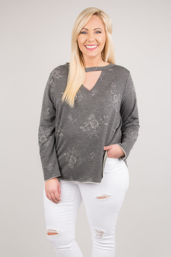 Night Owl Top, Charcoal