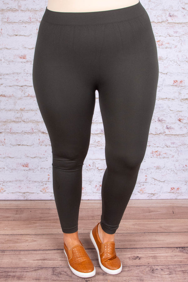 Luxe Leggings, Long Charcoal