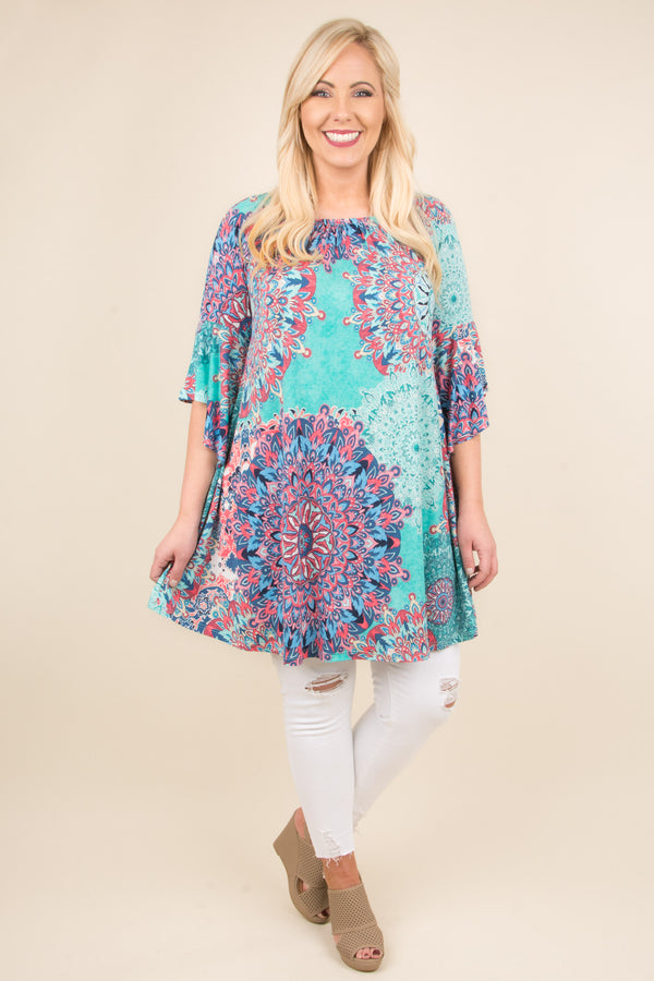 Until Sunset Tunic, Blue