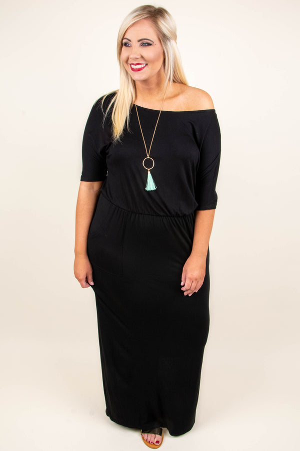 Same City Lights Maxi Dress, Black