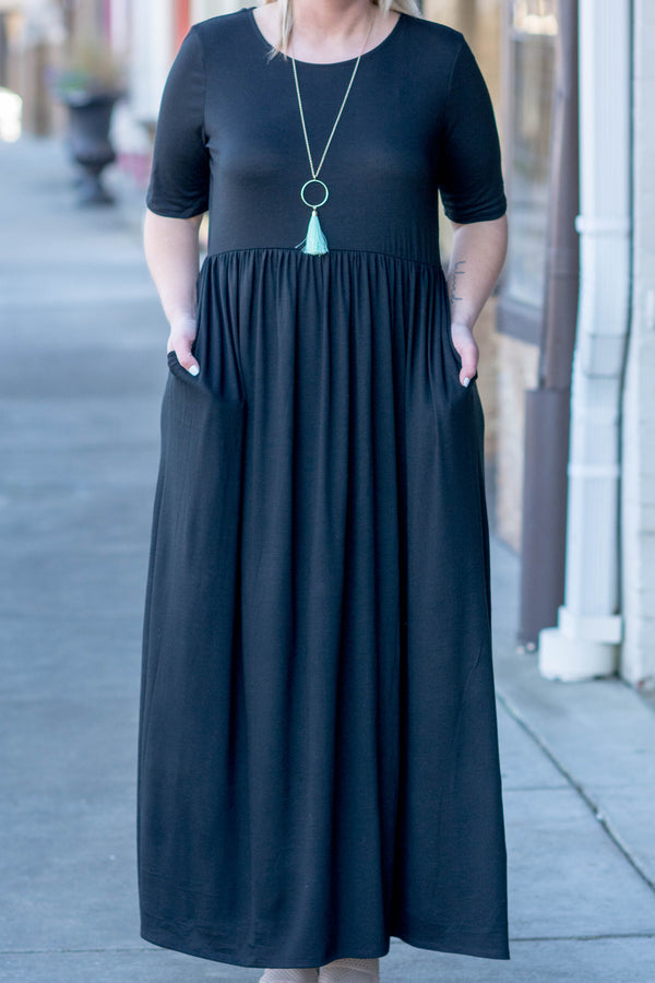 Shall We Dance Maxi Dress, Black