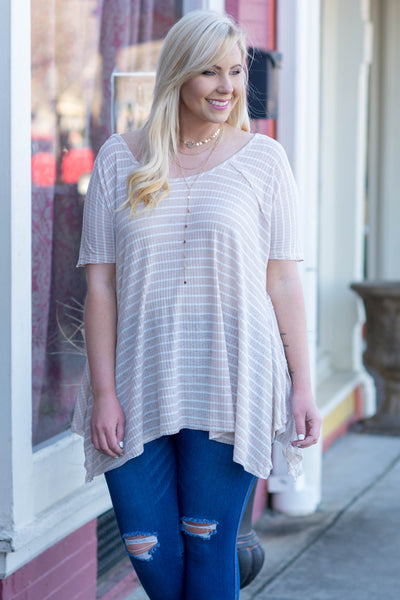 Lazy Weekends Tunic, Taupe