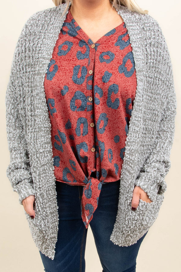 Above The Clouds Cardigan, Gray