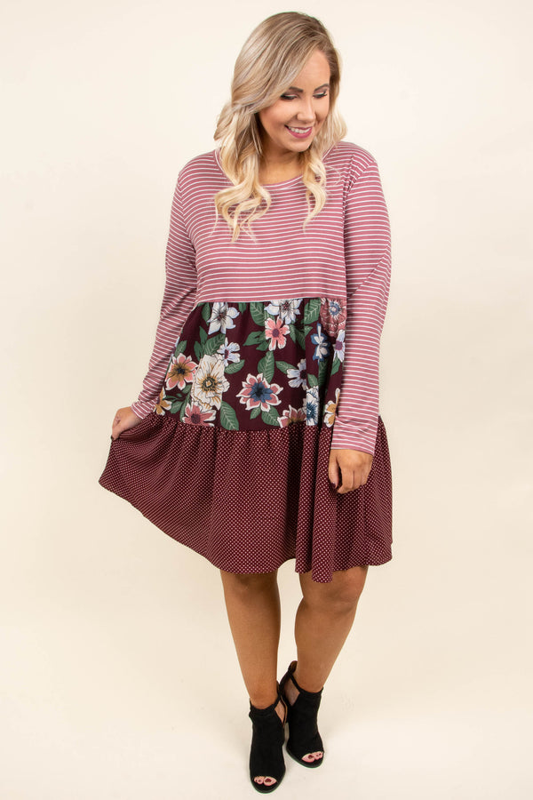 Total Opposites Dress, Mauve
