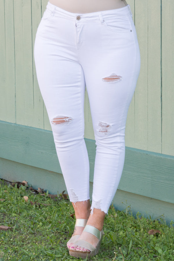 Up To You Skinny Jeans, White