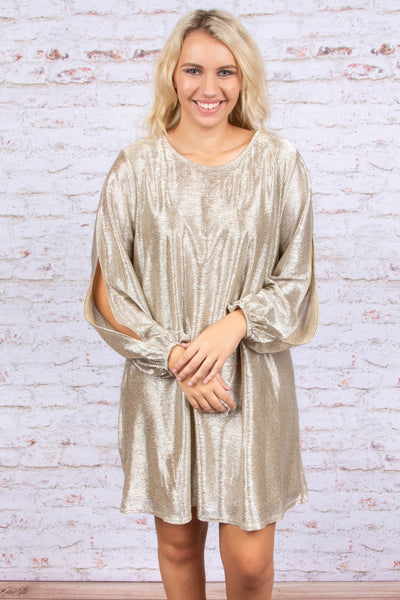 Hollywood Nights Dress, Silver