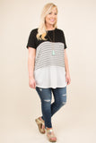 Sweet Intentions Tunic, Black-Ivory